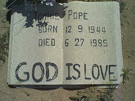 POPE, TOMMIE - Cochise County, Arizona | TOMMIE POPE - Arizona Gravestone Photos