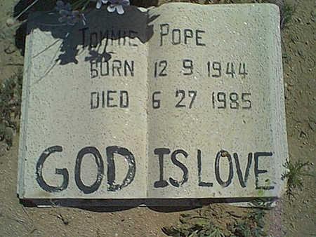 POPE, TOMMIE - Cochise County, Arizona | TOMMIE POPE - Arizona Gravestone Photos