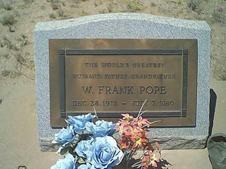 POPE, W. FRANK - Cochise County, Arizona | W. FRANK POPE - Arizona Gravestone Photos