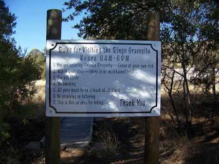 *RINGO GRAVESITE, CEMETERY SIGN - Cochise County, Arizona | CEMETERY SIGN *RINGO GRAVESITE - Arizona Gravestone Photos