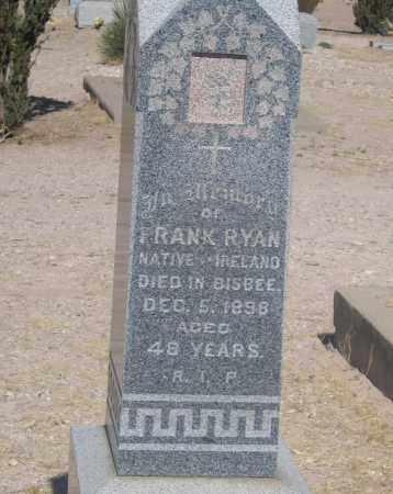 RYAN, FRANK - Cochise County, Arizona | FRANK RYAN - Arizona Gravestone Photos