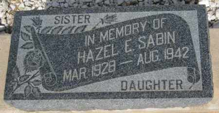 SABIN, HAZEL E. - Cochise County, Arizona | HAZEL E. SABIN - Arizona Gravestone Photos