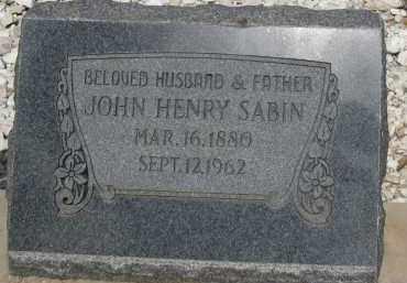 SABIN, JOHN HENRY - Cochise County, Arizona   JOHN HENRY SABIN - Arizona Gravestone Photos