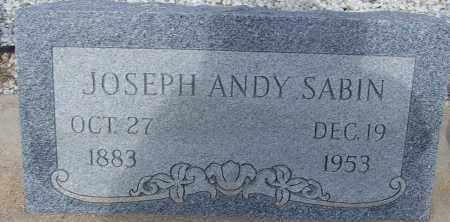 SABIN, JOSEPH ANDY - Cochise County, Arizona | JOSEPH ANDY SABIN - Arizona Gravestone Photos