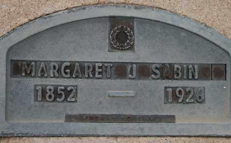 SABIN, MARGARET J - Cochise County, Arizona   MARGARET J SABIN - Arizona Gravestone Photos