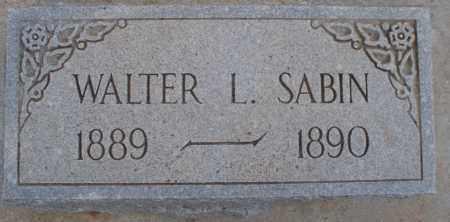 SABIN, WALTER L. - Cochise County, Arizona | WALTER L. SABIN - Arizona Gravestone Photos