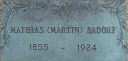 SADORF, MATHIAS (MARTIN) - Cochise County, Arizona   MATHIAS (MARTIN) SADORF - Arizona Gravestone Photos