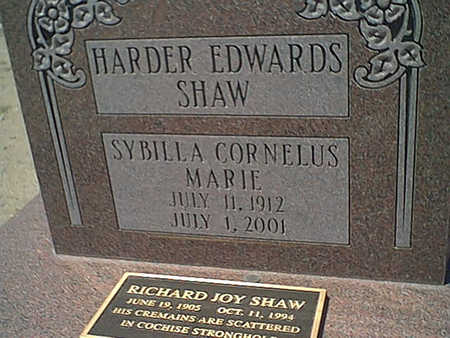 SHAW, RICHARD JOY - Cochise County, Arizona | RICHARD JOY SHAW - Arizona Gravestone Photos