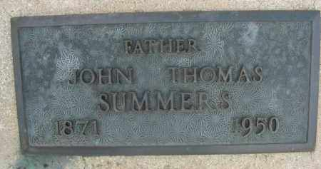 SUMMERS, JOHN THOMAS - Cochise County, Arizona   JOHN THOMAS SUMMERS - Arizona Gravestone Photos