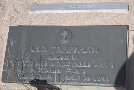 TRAPPMAN, LEO - Cochise County, Arizona | LEO TRAPPMAN - Arizona Gravestone Photos