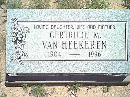 VAN HEEKEREN, GERTRUDE M. - Cochise County, Arizona   GERTRUDE M. VAN HEEKEREN - Arizona Gravestone Photos