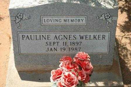 WELKER, PAULINE AGNES - Cochise County, Arizona | PAULINE AGNES WELKER - Arizona Gravestone Photos