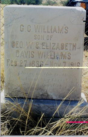 WILLIAMS, GEORGE CALVIN - Cochise County, Arizona | GEORGE CALVIN WILLIAMS - Arizona Gravestone Photos