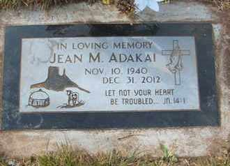 ADAKAI, JEAN M. - Coconino County, Arizona | JEAN M. ADAKAI - Arizona Gravestone Photos