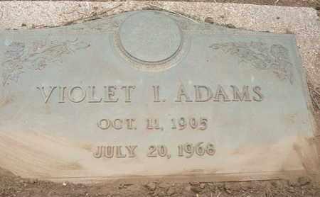 ADAMS, VIOLET I. - Coconino County, Arizona   VIOLET I. ADAMS - Arizona Gravestone Photos