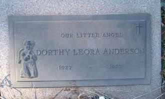 ANDERSON, DORTHY LEORA - Coconino County, Arizona | DORTHY LEORA ANDERSON - Arizona Gravestone Photos