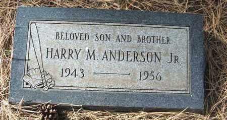 ANDERSON, JR., HARRY M. - Coconino County, Arizona   HARRY M. ANDERSON, JR. - Arizona Gravestone Photos