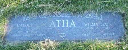 ATHA, HAROLD E. - Coconino County, Arizona | HAROLD E. ATHA - Arizona Gravestone Photos