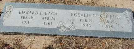 BACA, EDWARD E. - Coconino County, Arizona | EDWARD E. BACA - Arizona Gravestone Photos