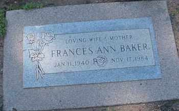 BAKER, FRANCES ANN - Coconino County, Arizona | FRANCES ANN BAKER - Arizona Gravestone Photos