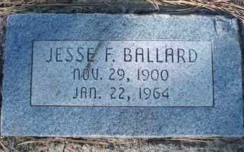 BALLARD, JESSE F. - Coconino County, Arizona   JESSE F. BALLARD - Arizona Gravestone Photos