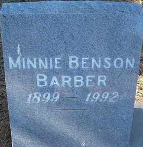 BENSON BARBER, MINNIE - Coconino County, Arizona | MINNIE BENSON BARBER - Arizona Gravestone Photos
