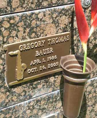 BAUER, GREGORY THOMAS - Coconino County, Arizona   GREGORY THOMAS BAUER - Arizona Gravestone Photos