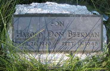 BEEKMAN, HAROLD DON - Coconino County, Arizona   HAROLD DON BEEKMAN - Arizona Gravestone Photos