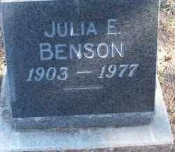 BENSON, JULIA E. - Coconino County, Arizona | JULIA E. BENSON - Arizona Gravestone Photos