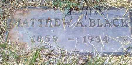 BLACK, MATTHEW A. - Coconino County, Arizona | MATTHEW A. BLACK - Arizona Gravestone Photos