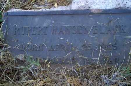 BLACK, RUPERT HANSEN - Coconino County, Arizona | RUPERT HANSEN BLACK - Arizona Gravestone Photos