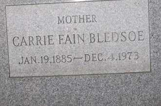 BLEDSOE, CARRIE FAIN - Coconino County, Arizona | CARRIE FAIN BLEDSOE - Arizona Gravestone Photos