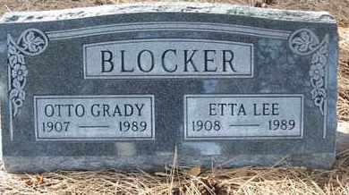 LEE BLOCKER, ETTA - Coconino County, Arizona   ETTA LEE BLOCKER - Arizona Gravestone Photos