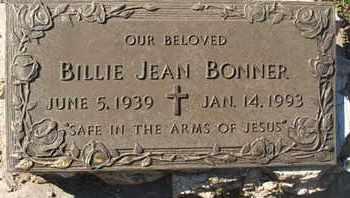 BONNER, BILLIE JEAN - Coconino County, Arizona | BILLIE JEAN BONNER - Arizona Gravestone Photos