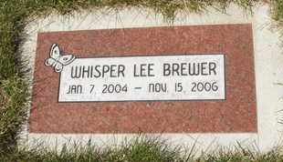 BREWER, WHISPER LEE - Coconino County, Arizona | WHISPER LEE BREWER - Arizona Gravestone Photos