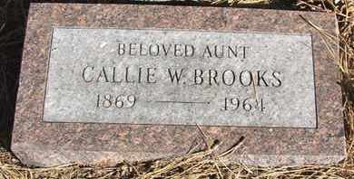 BROOKS, CALLIE W. - Coconino County, Arizona | CALLIE W. BROOKS - Arizona Gravestone Photos