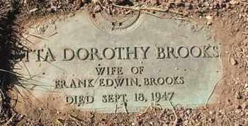 BROOKS, ETTA DOROTHY - Coconino County, Arizona | ETTA DOROTHY BROOKS - Arizona Gravestone Photos