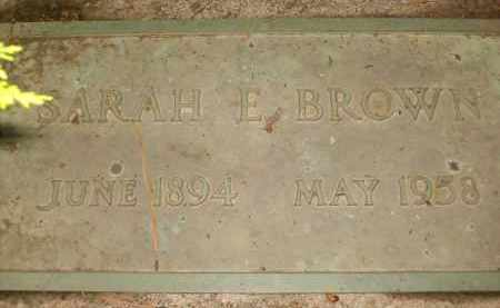 BROWN, SARAH E. - Coconino County, Arizona | SARAH E. BROWN - Arizona Gravestone Photos