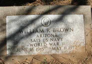 BROWN, WILLIAM R. - Coconino County, Arizona | WILLIAM R. BROWN - Arizona Gravestone Photos