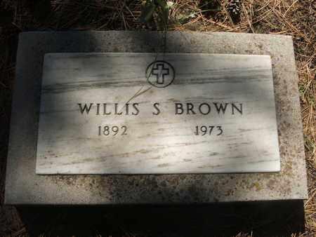 BROWN, WILLIS S. - Coconino County, Arizona | WILLIS S. BROWN - Arizona Gravestone Photos