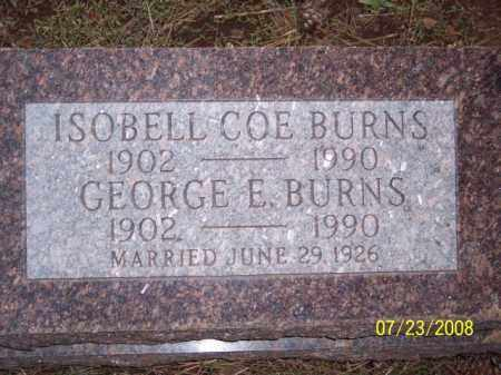 BURNS, GEORGE E. - Coconino County, Arizona | GEORGE E. BURNS - Arizona Gravestone Photos
