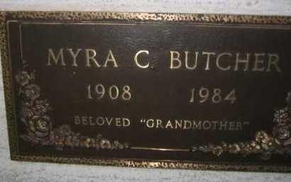 BUTCHER, MYRA C. - Coconino County, Arizona | MYRA C. BUTCHER - Arizona Gravestone Photos