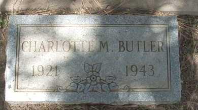 BUTLER, CHARLOTTE M. - Coconino County, Arizona   CHARLOTTE M. BUTLER - Arizona Gravestone Photos