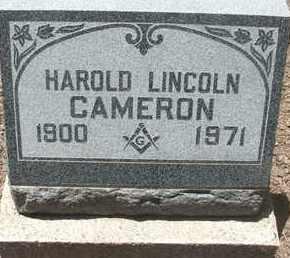 CAMERON, HAROLD LINCOLN - Coconino County, Arizona   HAROLD LINCOLN CAMERON - Arizona Gravestone Photos