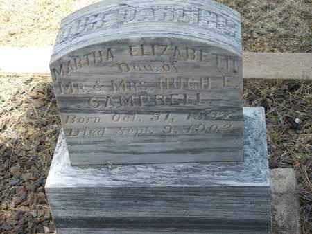 CAMPBELL, MARTHA ELIZABETH - Coconino County, Arizona | MARTHA ELIZABETH CAMPBELL - Arizona Gravestone Photos