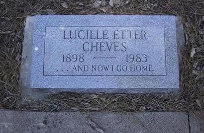 ETTER CHEEVES, LUCILLE - Coconino County, Arizona   LUCILLE ETTER CHEEVES - Arizona Gravestone Photos