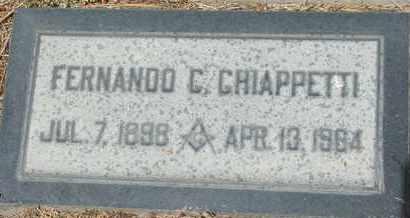 CHIAPPETTI, FERNANDO C. - Coconino County, Arizona | FERNANDO C. CHIAPPETTI - Arizona Gravestone Photos