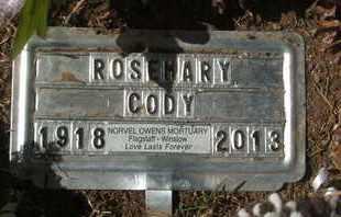 CODY, ROSEMARY - Coconino County, Arizona   ROSEMARY CODY - Arizona Gravestone Photos