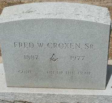 CROXEN, SR., FRED W. - Coconino County, Arizona | FRED W. CROXEN, SR. - Arizona Gravestone Photos