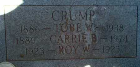 CRUMP, ROY W. - Coconino County, Arizona | ROY W. CRUMP - Arizona Gravestone Photos